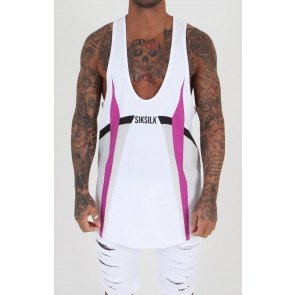 Tielko Sik Silk Retro Gym Vest White