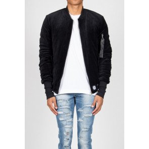 Bombera Sixth June Bomber Jacket Velvet Black