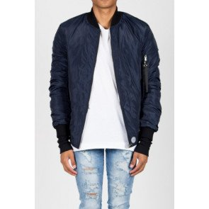Bombera Sixth June Bomber Jacket Strap Blue