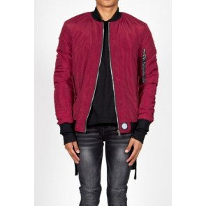 Bombera Sixth June Bomber Jacket Burgundy