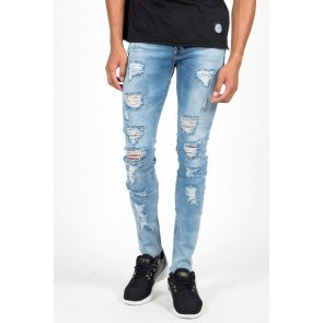 Rifle Sixth June Jean Light Blue Destroyed