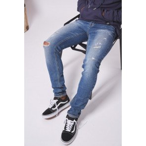 Jeans Sixth June Ripped Spotted Blue
