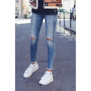 Jeans Sixth June Ripped Skinny Blue
