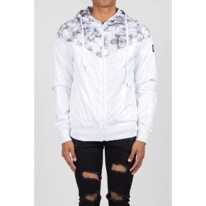 Bunda Sixth June Windbreaker Jacket Marble White