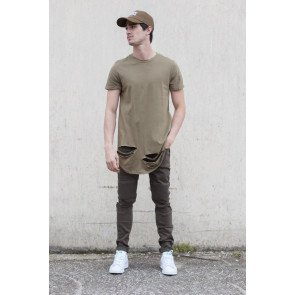 Tričko Sixth June Cut Rounded Khaki