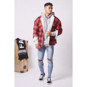 Bunda Sixth June Sherpa Label Tartan Red