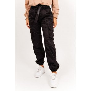 Belted Cargo Pants Black