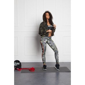 Crop Top Mikina Sixth June Capuche Zippé Sport Camo