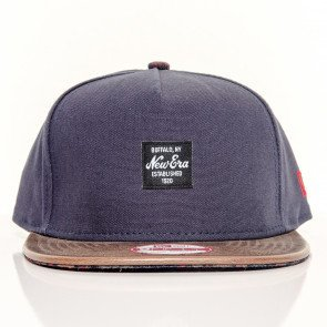 Snapback Strapback New Era Buffalo New York Navy Brown