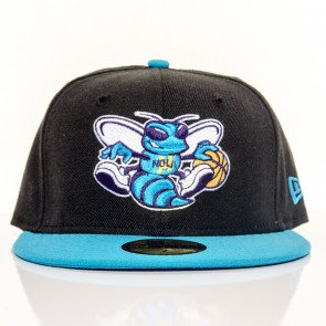 Snapback Fitted Cap New Era Charlotte Hornets Black Blue