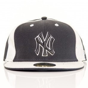 Snapback Fitted Cap New Era New York Yankees Black White