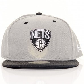 Snapback Fitted Cap New Era Brooklyn Nets Grey Black