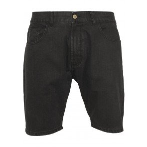 Kraťasy Casual Denim Shorts Black Coated