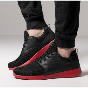 Tenisky Urban Classics Light Runner Shoe Black Red