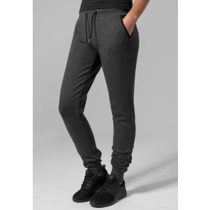 Tepláky Urban Classics Ladies Fitted Athletic Pants Charcoal