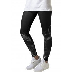 Legíny Urban Classics Smoke Leggings Black