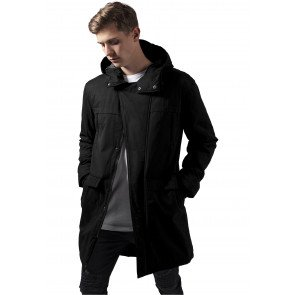 Bunda Urban Classics Cotton Peached Canvas Parka Black