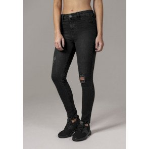 Jeans Urban Classics High Waist Skinny Denim Black Washed