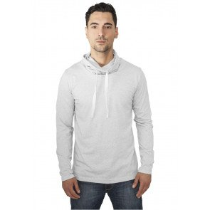 Mikina Urban Classics Melange High Neck Light Grey