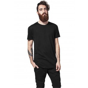 Tričko Urban Classics Shaped Long Tee Black