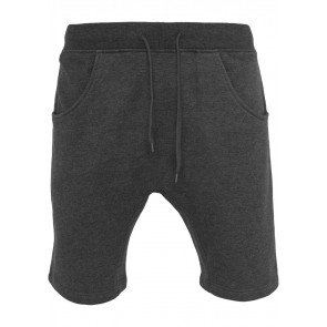 Kraťasy Urban Classics Light Deep Crotch Sweatshorts Charcoal