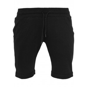 Kraťasy Urban Classics Light Turnup Sweatshorts Black