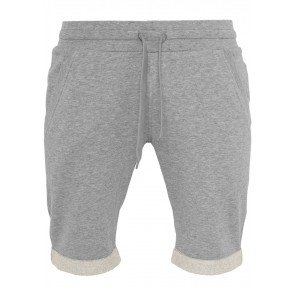 Kraťasy Urban Classics Light Turnup Sweatshorts Grey