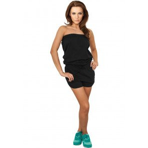 Šaty Urban Classics Ladies Hot Jumpsuit Black