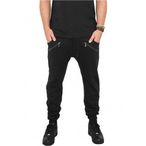 Tepláky Urban Classic Zip Deep Crotch Sweatpants Black