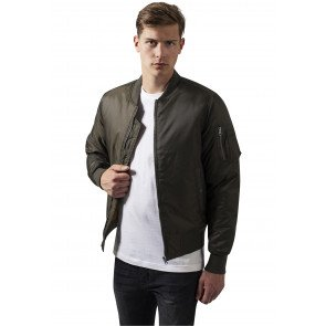 Bunda Urban Classics Basic Bomber Jacket Darkolive
