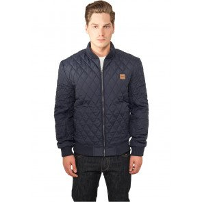 Bunda Urban Classics Diamond Quilt Nylon Jacket Navy