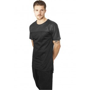 Tričko Urban Classics Football Mesh Long Jersey Black