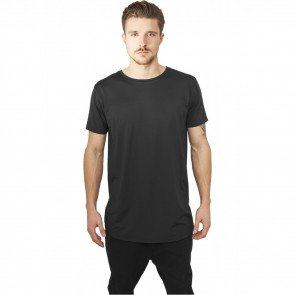 Tričko Urban Classics Shaped Neopren Long Tee Black