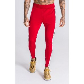 Gianni Kavanagh Burgundy Joggers With Gold Lurex Ribbon