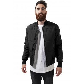 Basic Quilt Bomber Jacket black