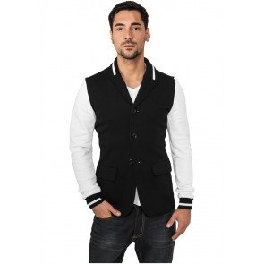 Mikina Urban Classics Sweat Blazer Black White