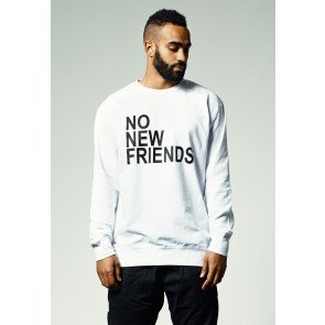 Crewneck Mister Tee No New Friends White