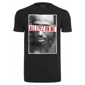 Tričko Urban Classics 2Pac All Eyez On Me Tee Black