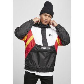 Starter Color Block Half Zip Retro Jacket blk/wht/starter red/golden