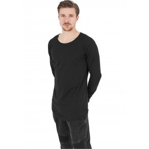 Tričko Urban Classics Long Shaped Tee Black