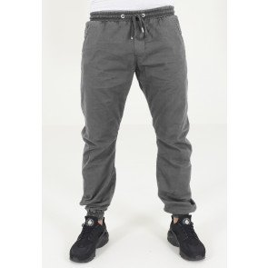 Nohavice Urban Classics Stretch Twill Jogging Pants Darkgrey