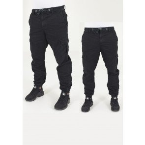 Nohavice Urban Classics Cargo Jogging Pants Black