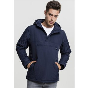 Padded Pull Over Jacket navy