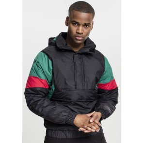 3-Tone Pull Over Jacket black/green/fire red