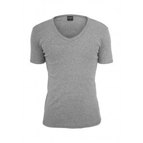 Tričko Slim 1By1 V-Neck Tee Grey