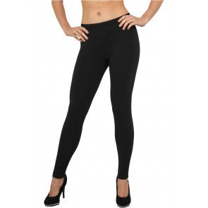 Legíny Urban Classics Ladies Jersey Leggings Black