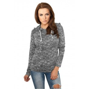 Tričko Ladies Melange Burnout Hoody Darkgrey