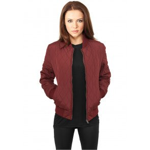 Bunda Urban Classics Diamond Quilt Nylon Burgundy