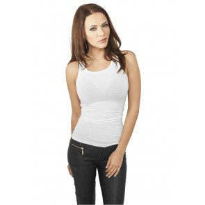 Tričko Urban Classics Ladies Fitted Viscon Racerback Tank White