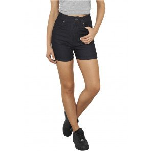 Kraťasy Urban Classics High Waist Denim Skinny Shorts Blue Denim
